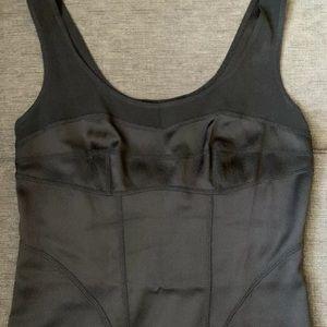 DIANE VonFURSTENBERG Black Silk Stretch Dress $498